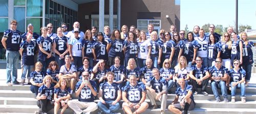 Staff in Football Jerseys